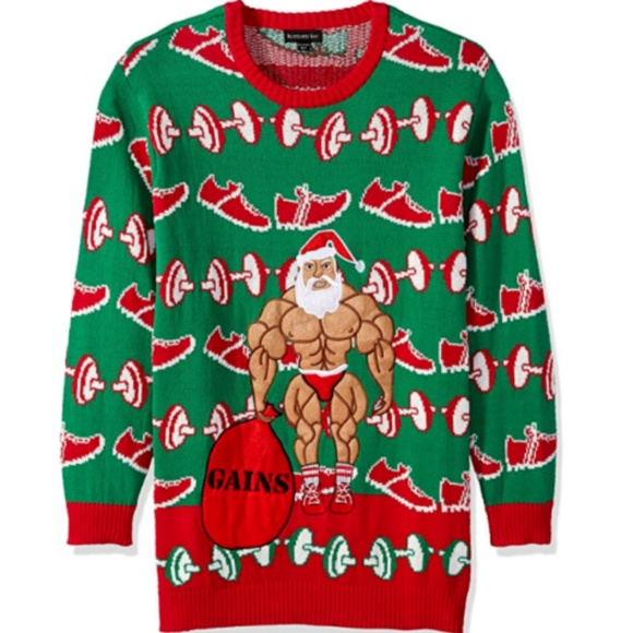 adf6127b3 Blizzard Bay Sweaters | Mens Ugly Christmas Sweater Santa Gains ...
